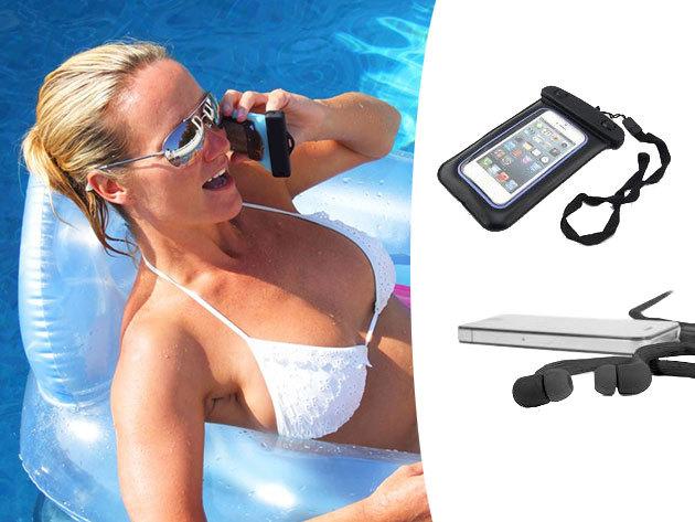 Víz és porálló univerzális telefon/iPod biztonsági tok + vízálló fülhallgató!