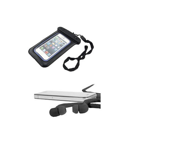 Vízálló fülhallgató + univerzális telefon/iPod tok