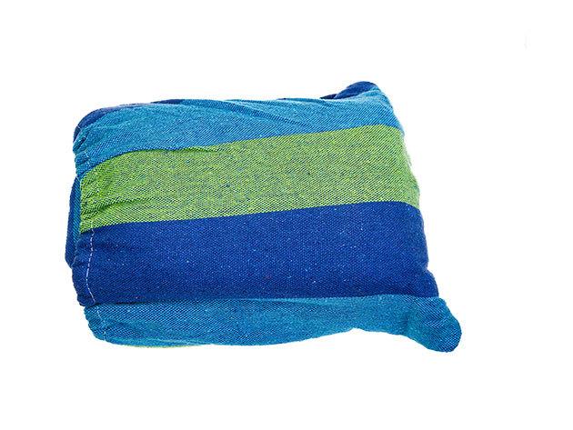 Kétszemélyes függőágy, kék szín, teherbírás 150 kg - HOP1000120
