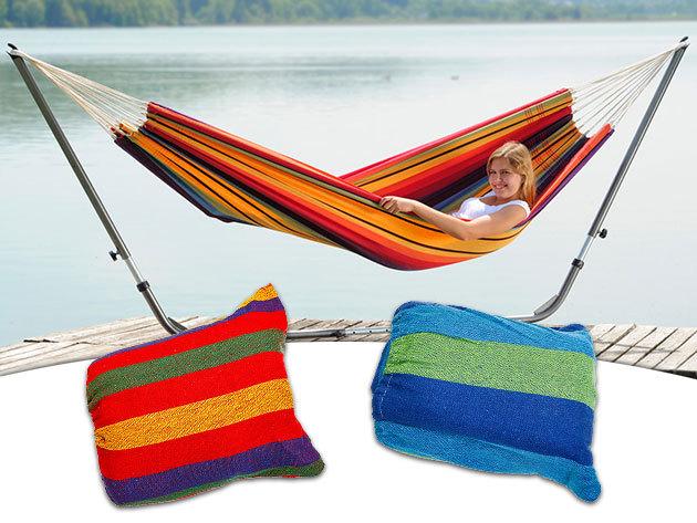 Kétszemélyes függőágy és tartóállvány - Csempészd be a nyaralás élményét otthonodba!