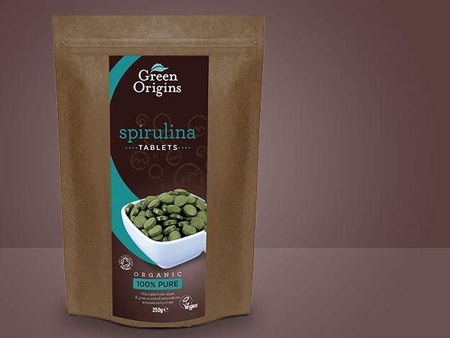 Green Origins BIO SPIRULINA tabletta - 250 gramm / zacskó