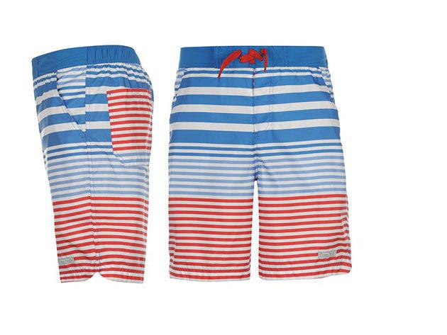 Ocean Pacific férfi fürdőnadrág - kék/piros