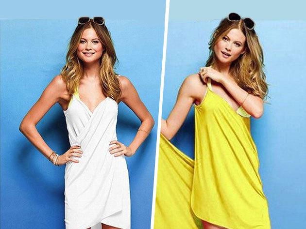 Csinos strandruha, mely kendő is egyben - praktikus nyári viselet vidám színekben