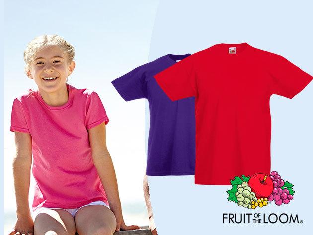 Fruit of the Loom gyermek póló - 100% pamut, több színben