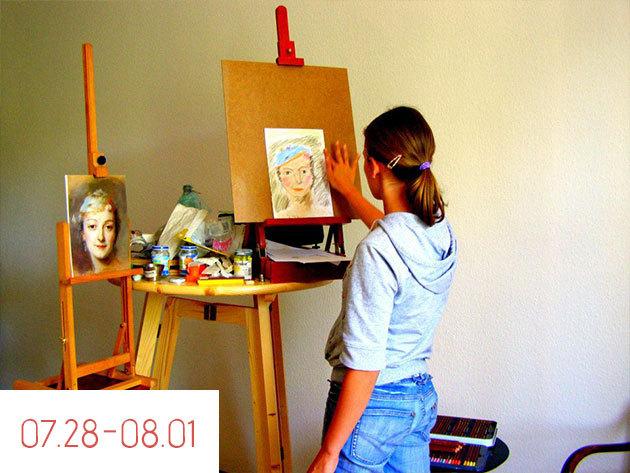 07.28.-08.01. / 5 napos napközis kézműves tábor Budapesten, Csekei-Tóth Eszter festővel
