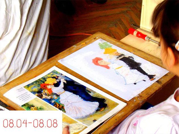 08.04.-08.08. / 5 napos napközis kézműves tábor Budapesten, Csekei-Tóth Eszter festővel