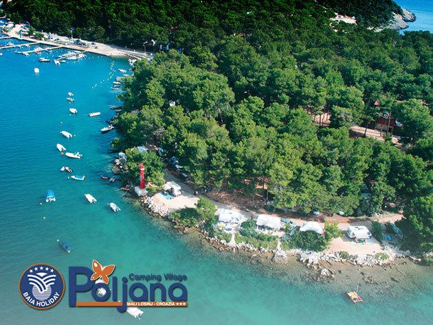 Tengerparti kikapcsolódás 3-6 fő részére Horvátországban, Cres szigetén! 8 nap 7 éjszaka a Camping Village Poljana Standard mobilházakban vagy bungalókban