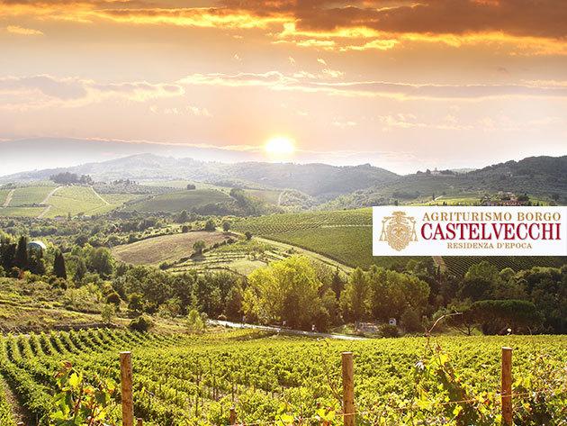 Kikapcsolódás Toszkánában! Agritourism Borgo Castelvecchi - 8 nap/7 éj /2 fő - svédasztalos reggelikkel, 1x különleges toszkán vacsorával és borkóstolóval