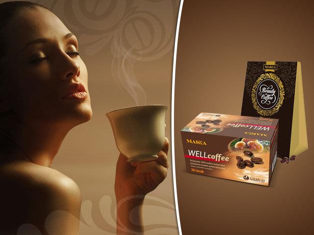 WELLcoffee -Természetes instant kávé Ganoderma gomba kivonattal és Beauty Coffee - kollagén peptidet tartalmazó instant arabica kávé a nők szépségéért