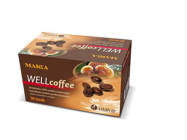 MAKKA WELLcoffee, Természetes instant kávé Ganoderma gomba kivonattal (30 x 4,5 gramm)