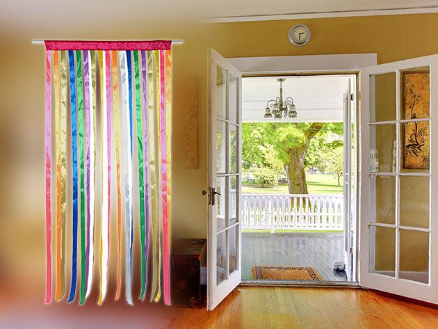 Szalagos, színes függöny ajtóra - feldobja otthonodat és kint tartja a rovarokat