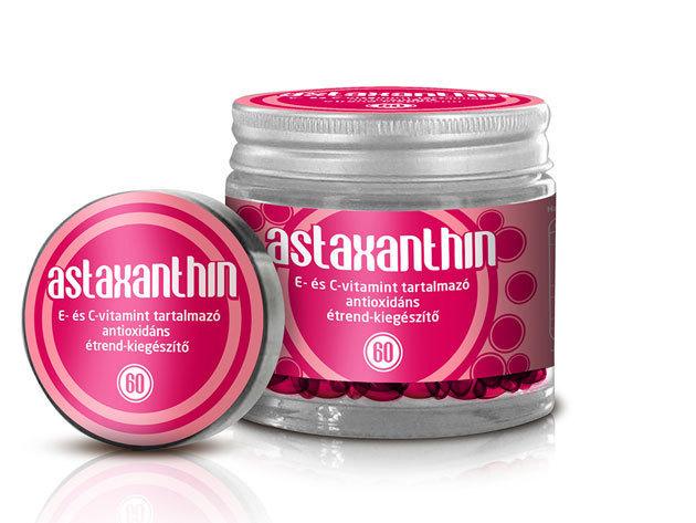 Astaxanthin multifunkcionális antioxidáns, E és C vitamin (60 db kapszula)