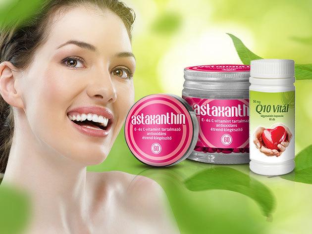 Astaxanthin kapszulák - Szépség és egészség egyben, valamint Q10 Vitál a szív egészségéért