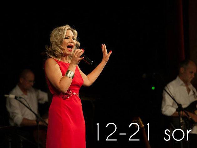 Szűcs Gabi: Swinging Amy koncert, szeptember 7. vasárnap 20:00 (12-21. sor)