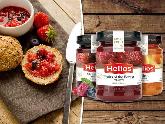 Helios Gourmet 60%-os gyümölcstartalmú lekvárok természetes alapanyagokból