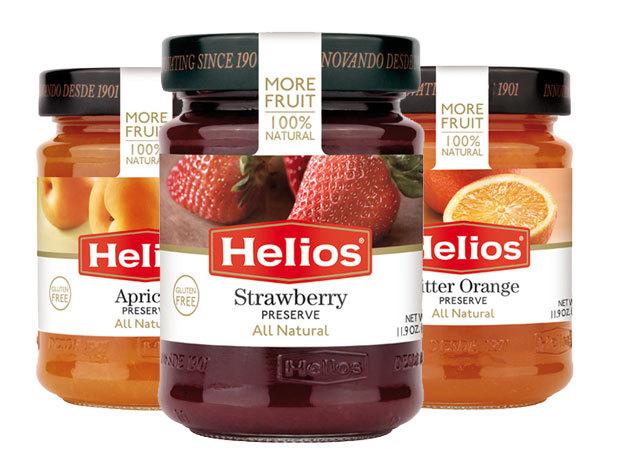3 darab Helios Gourmet 60%-os gyümölcstartalmú lekvár / 3x340 g