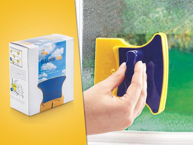 Tisztítsd meg egyszerre az ablak két oldalát a Magic Cleanerrel - mágneses ablaktisztító!