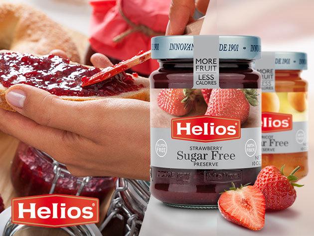 Helios Gourmet DIABETIKUS lekvárok 60%-os gyümölcstartalommal, édesítőszerrel, természetes alapanyagokból