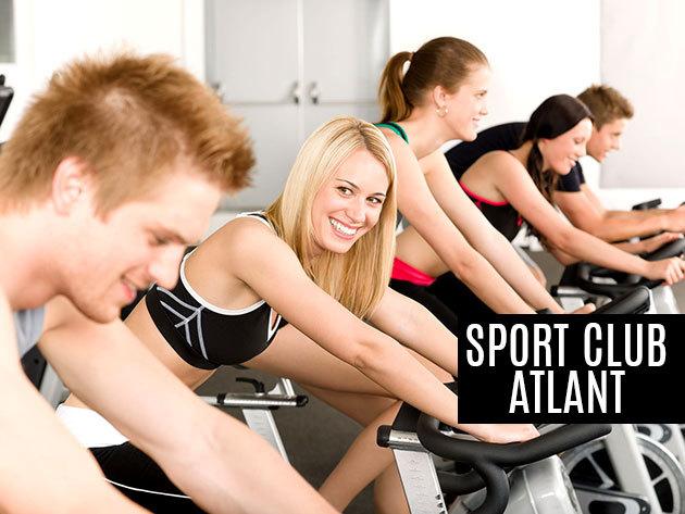 4 alkalmas, szabadon variálható aerobic és spinning bérlet az Atlant Sport Clubban, a Margit hídnál!