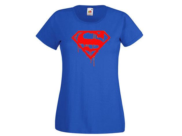 Superman póló - női környakú