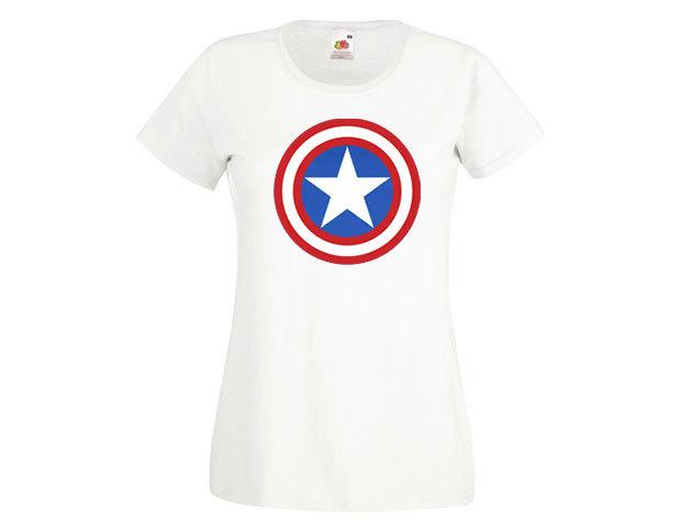 Amerika kapitány póló - női környakú