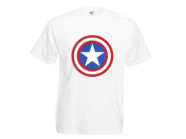Amerika kapitány póló - férfi környakú