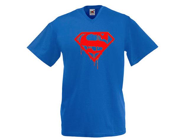 Superman póló - férfi V-nyakú