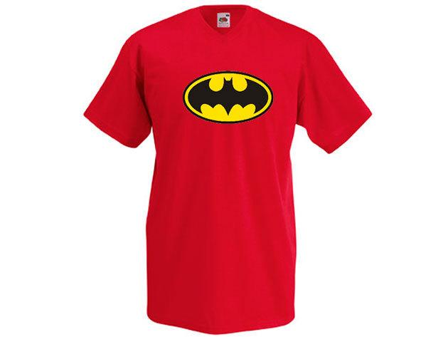 Batman póló - férfi V-nyakú
