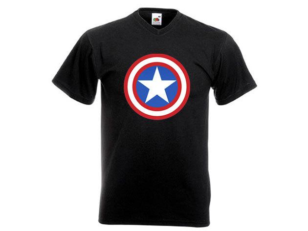 Amerika kapitány póló - férfi V-nyakú