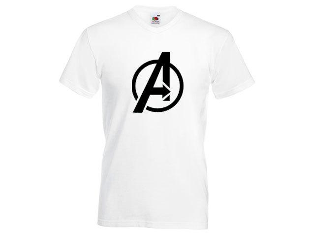 Avengers póló - férfi V-nyakú