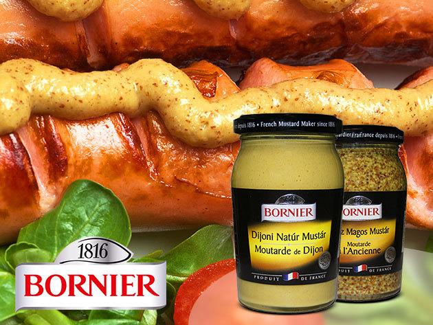 Bornier Dijoni mustárok, akár 1 kg-os kiszerelésben is - igazi ínyenceknek!