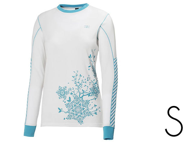 Helly Hansen ACTIVE LS WHITE/ FROZEN BLUE PRINT S (48290-002)