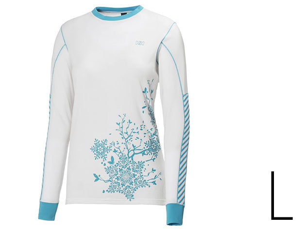 Helly Hansen ACTIVE LS WHITE/ FROZEN BLUE PRINT L (48290-002)