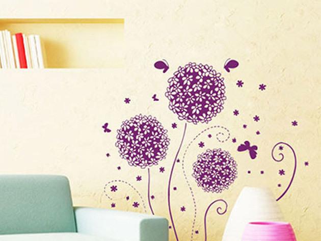 Lila virág falmatrica - AZONNAL ÁTVEHETŐ
