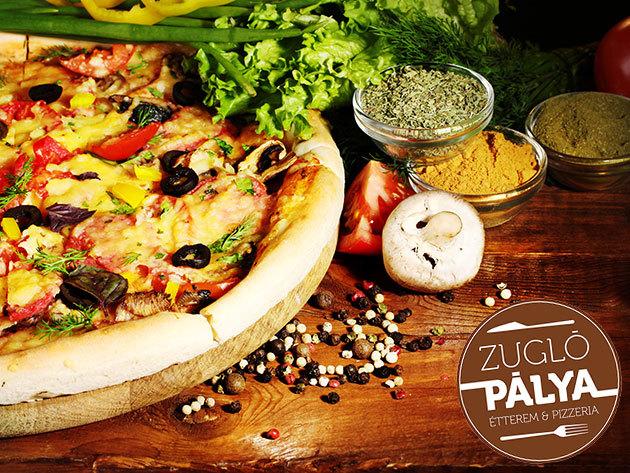 50 cm-es Családi Pizza választható feltéttel + nagy üdítő, ingyenes kiszállítással (XIII., XIV., XV. ker.), vagy helyben fogyasztással