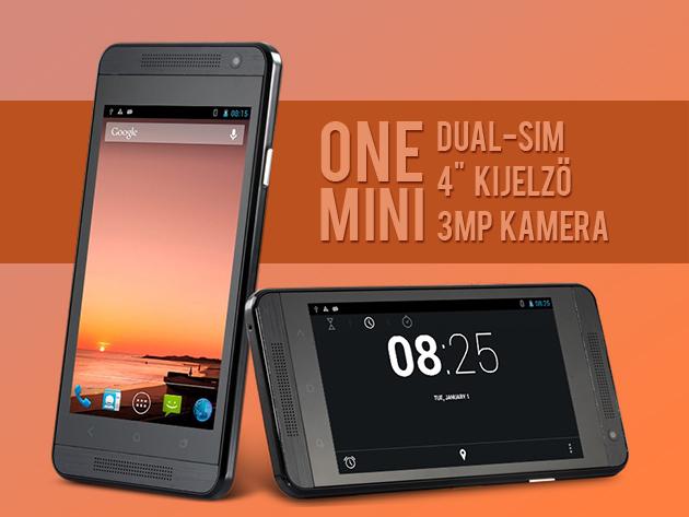 """OneMini 4"""" érintőképernyős kártyafüggetlen okostelefon - 3MP kamera, Android operációs rendszer, Wifi"""