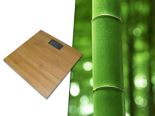 Digitális bambusz személymérleg nagyméretű kijelzővel - dizájn és pontosság