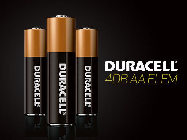 4 db DURACELL AA-s elem - ha kell egy kis plusz energia