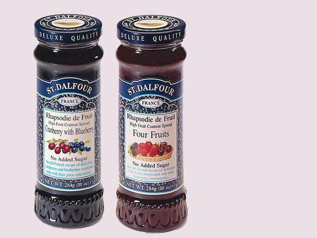 DUO PACK - 2 üveg St. Dalfour lekvár választható ízben, díszdobozban, porcelán kanállal
