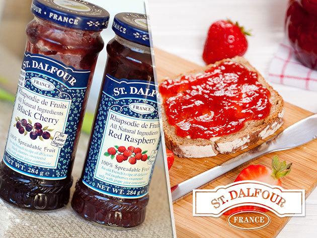 St. Dalfour francia lekvárok cukor hozzáadása nélkül, magas gyümölcstartalommal