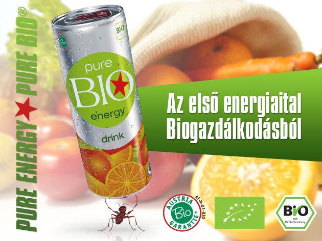Pure BIO® Energiaital - tartósítószer, taurin, mesterséges színezék és aroma nélkül - 3, 6 vagy 24 db-os kiszerelésben