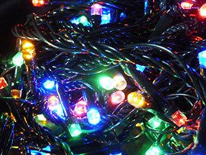 100 LED-es karácsonyfa füzér / MULTICOLOR