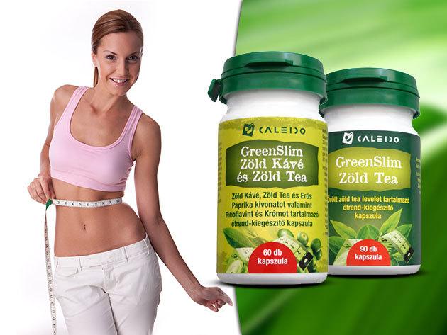 Caleido GreenSlim Zöld Kávé és Zöld Tea kapszula - a sikeres diétához