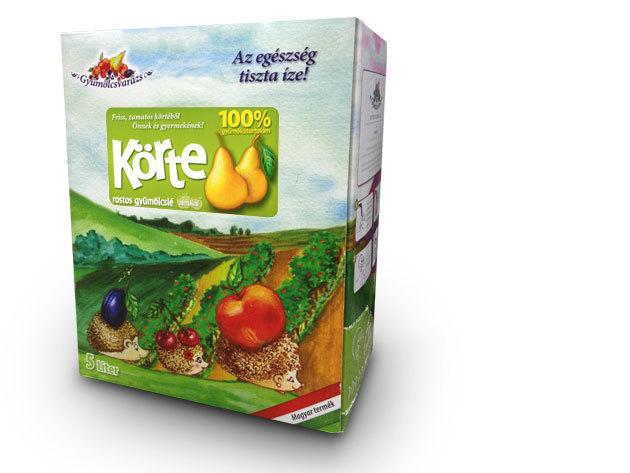 100% gyümölcslé - KÖRTE Dobozzal