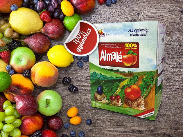 100%-os gyümölcslevek 5 l-es kiszerelésben, cukor és tartósítószer hozzáadása nélkül