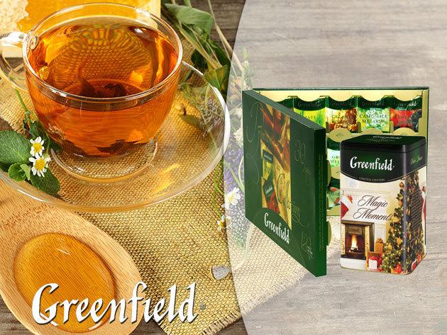 Greenfield teaválogatások és szálas teák a téli ünnepekre, díszdobozban!