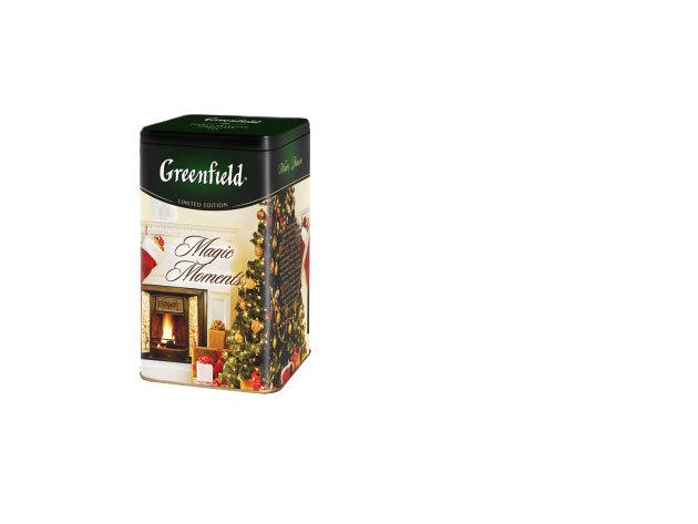 Greenfield Magic Moments szálas tea almás-marcipános ízesítéssel, fém díszdobozban / 150g