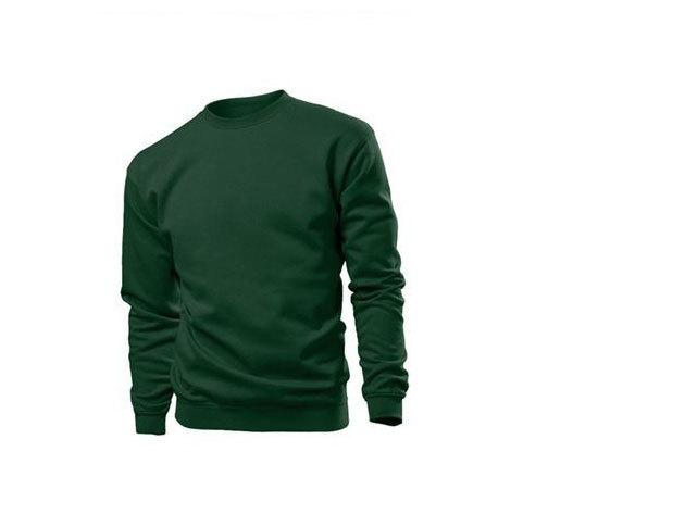Pamut pulóver (belül bolyhos) - S - SÖTÉTZÖLD / ST4000.BOG1
