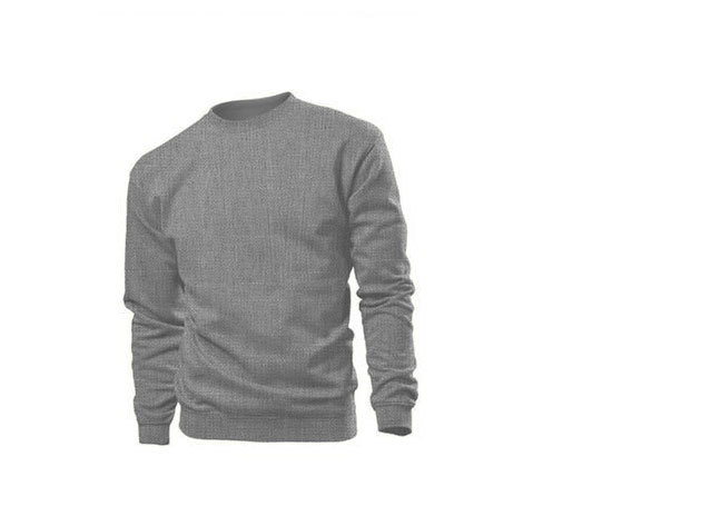 Pamut pulóver (belül bolyhos) - S - SZÜRKE / ST4000.GYH1