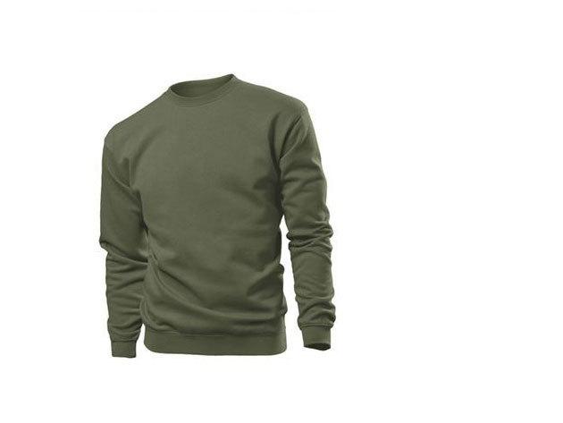 Pamut pulóver (belül bolyhos) - S - KHEKI / ST4000.KHA1